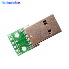 10pcs USB to DIP Adapter Converter 4 pin for 2.54mm PCB Board Power Supply DIY