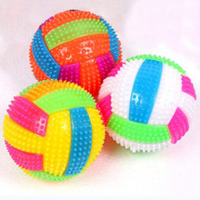 Baby Kids Light-up Toy Volleyball Bouncing Balls Children Luminous Toy Flashing Party Gift