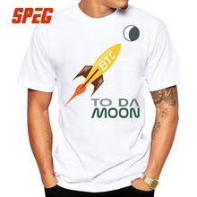 Buy T-Shirts Bitcoin Da Moon Tee Shirt Moon Cool Tees Teenage Organnic Cotton Short Sleeve T Shirts New Brand Men 4XL 5XL for $11.70 in AliExpress store