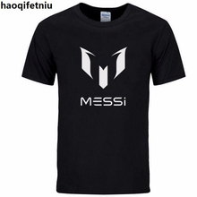 2017 summer brand 100% cotton Barcelona MESSI Men t-shirt tops Man casual short sleeve t shirts Plus Size(China)