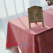 Elegand Dotted Linen / Cotton TableCloth Best Quality Table Cover Towels Luxury Table Cloths on The Table for Picnic Outdoor(China)