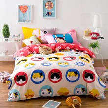 "cute cats 78""x90"" Quilt Doona Cover Set by flat sheet pillowcase100% cotton -queen kids/boys 4pcs Cartoon bedding set(China)"