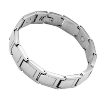 Mens 12MM Titanium Magnetic Therapy Link Bracelet Negative Ion Germanium Power Health Wrist Band 8""