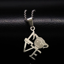 Boy Girl Love Pendants Necklaces Stainless Steel Choker Necklace Jewellery For Women or Men Gift acessorios para mulher N611214