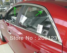 Free shipping Stainless steel TOP window trims cover FOR kia 2010 2011 2012 FORTE Cerato