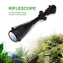 6-24X50 AOEG Riflescope Hunting Optics Hunting Scope Adjustable Light Reticle Tactical Scope with 20/11mm Rails