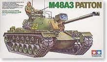 Tamiya assembled Chariot Model 35120 1/35 U.S. military M48A3 Barton tank car