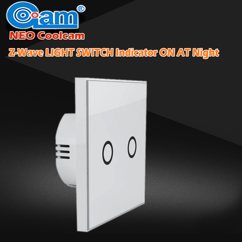NEO Coolcam Smart Home Z-wave Wall Light Switch Home Automation Z Wave Wireless Smart Remote Control Light Switch EU-2Gang<br>
