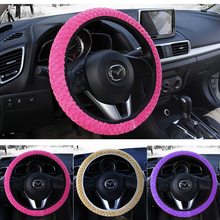 Universal Soft Warm Plush Covers Car Steering Wheel Cover Car-styling Pearl Velvet Auto Decoration Winter 4 Colors