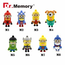 Dr.Memory USB Flash Drive Cute Minion Pen Drive Download Storage Memory Stick High Speed Pen drive Real Capacity U Disk Pendrive(China)