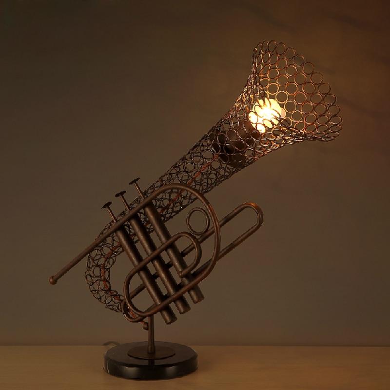 Loft retro Sax lamp iron industrial wind restaurant cafe decoration creative personality instrument lamp<br><br>Aliexpress