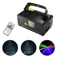 AUCD IR Remote DMX 512 Mini 400mW RGB Full Color Laser Stage Lighting Scanner DJ Dance Party Show Projector Lights DM-RGB400(China)