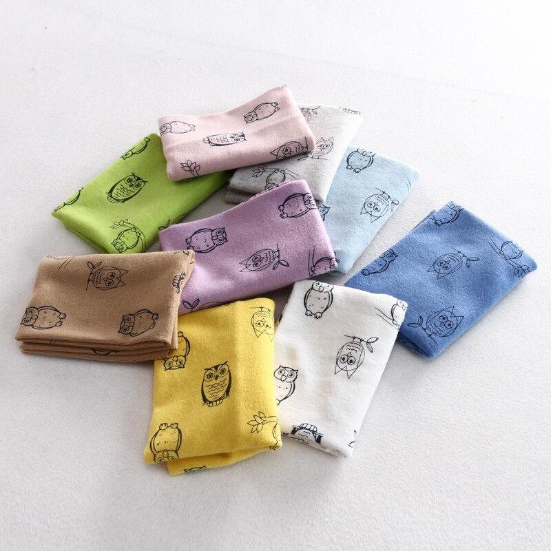 new cotton owl fish baby scarf O ring winter warm kids collars children fashion bibs cartoon printing thin boys girls neckwear