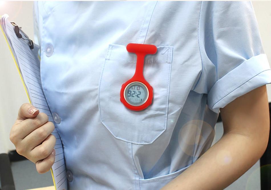 ALK Digital nurse watch Silicone for nurse fob clip watch for doctors nurse pocket Quartz watches medical brooch dropshipping 24