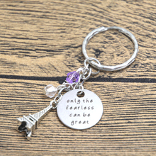 12pcs/lot Ratatouille Inspired Keyring Remy the rat in Paris Quote Only the Fearless can be Great crystal keychain(China)