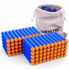 100PCS Refill Bullet Darts with Storage bag for Nerf N-strike Elite Retaliator Series Blasters Darts Toys Gun for Children Gifts(China)
