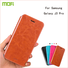 For Samsung Galaxy J3 Pro J3110 Case Mofi Fashion Flip PU Leather Case Stand Cover For Samsung J3 Pro Cell Phone Cases(China)
