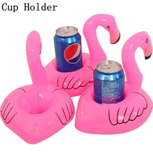 Pool Beach Party Flamingo Floating Drink Phone Holder Baby Inflatable Summer Toys Pool Beach Party Toy piscine(China)