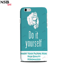 For iPhone 6/6S Personal Custom-made Sublimation Cases DIY Heat Transfer Mobile Phone Covers Shells NSBuni Brand Retail Package(China)