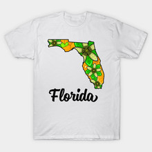 Florida State Flower Orange Blossoms Men and Women T shirt Print T-shirt Fashion Brand Tops Tees cotton cmt(China)