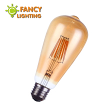 Vintage led edison filament bulb golden st64 e27 led dimmable light 110v 220v energy saving lamp replace incandescent bulb lampa