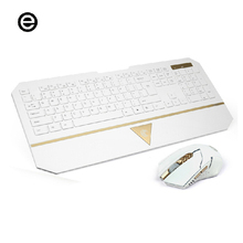 Multimedia Wireless Keyboard Mouse Combos with Fashionable Ultra Thin Wrist Support Keyboard Wireless Light Mouse For Computer
