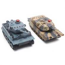 2PCS HUANQI H508 - 10 RC Tank Simulation Two Infrared Radio Remote Control Twin Battle Tank Set For Children Boy Gift
