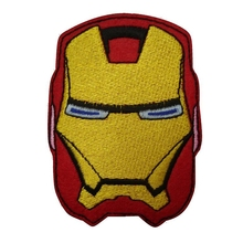 Iron Man Mark Helmet Marvel Comic The Avengers Tony Stark Thor Embroidered Movie Iron On Patch Custome TRANSFER APPLIQUE(China)