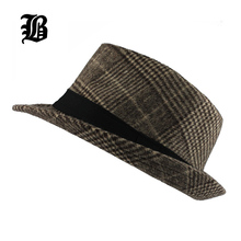 [FLB] Brand New Fashion Pure men Women's Large Brim Caps fedoras Floppy Jazz hat Vintage Popular wool caps(China)