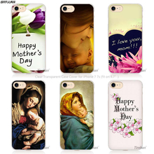 BiNFUL best mom ever Virgin Mary Baby Jesus Hard Transparent Phone Case Cover Coque for Apple iPhone 4 4s 5 5s SE 5C 6 6s 7 Plus(China)