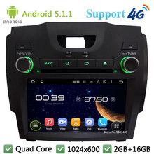 Quad Core 1024*600 Android 5.1.1 Car Multimedia DVD Player Radio Stereo 3G/4G WIFI GPS For Chevrolet S10/Isuzu D-Max 2013-2014