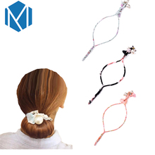 MISM Women Hair Styling Tool Girls Magic Pearl Twist Donut Hair Bun Maker Female Updo Headwear Rubber Clip Korea Accessories(China)
