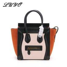 2018 Fashion Smiley Face Trapeze Genuine Leather Luxury Handbags Women  Famous Brands Bags Designer Bolsos Mujer Tote Bag Female 8cc555b1b5