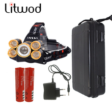Z30 zoomable Led Headlamp Headlight head lamp 5 Chip XM-L T6 9000 Lumen Motorcycle Headlamp Torch 4 Switch Model Charger Case