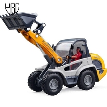 1:50 Forklift Truck Metal Toys Alloy Engineer Dump Car Bulldozer Model Toys For Children Diecast Mini Educational Vehicles Gifts