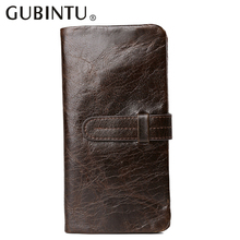 100% Top Cowhide wallet men real leather top quality multifunction male clutch cellphone pocket card holders long wallet purse !