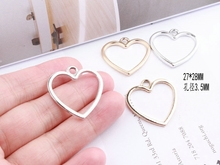 Homemade DIY Korea temperament long earrings simple hearts love material with ring accessories accessories