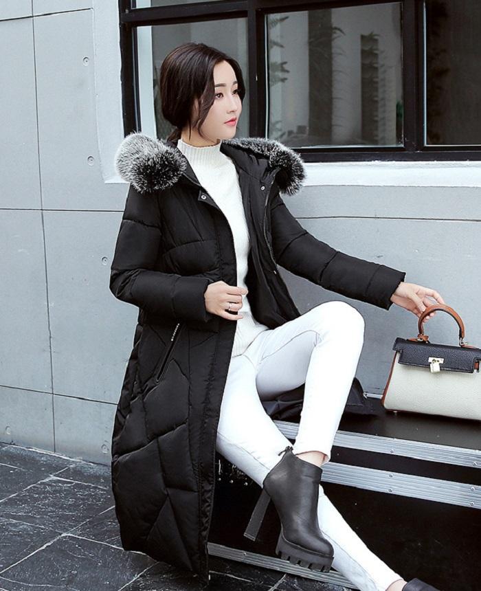 2017 Winter Women Coat Thicken Warm Long Jacket women coat girls long slim big coat jacket Down Parka+18 (1)