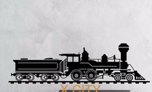 Train Locomotive Railroad LARGE WALL ART STICKER MURAL GRAPHIC DECAL VINYL CUT TRANSFER STENCILS CHILDREN ROOM DECORATIVE(China)