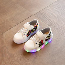 Size 26-30// Glowing Luminous Sneakers Girls Shoes with Light Led Slippers Tenis Led Feminino Kids Sneakers Lights Kids Trainers