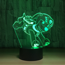 Interesting 3D Cartoon Dog Shape Table Lamp LED USB Night Light 7 Colors Change Bedroom Home Decoration Travel Children Gift Toy(China)