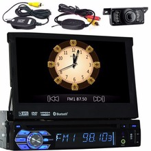 7 inch single din one din Car DVD Player GPS Navigation Auto Radio In dash Car PC Stereo Video Steering Wheel + wireless camera(China)