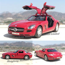 1:36 Scale Alloy Diecast Metal Super Sports Car Model For Thebenz SLS AMG Gullwing Collection Model Pull Back Roadster Toys Car