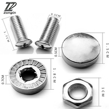 ZD 16X Car License Plate Bolts Frame Chrome Screws for Citroen C4 C5 Hyundai Solaris I30 VW Polo T5 Ford Fiesta Fusion Mustang(China)
