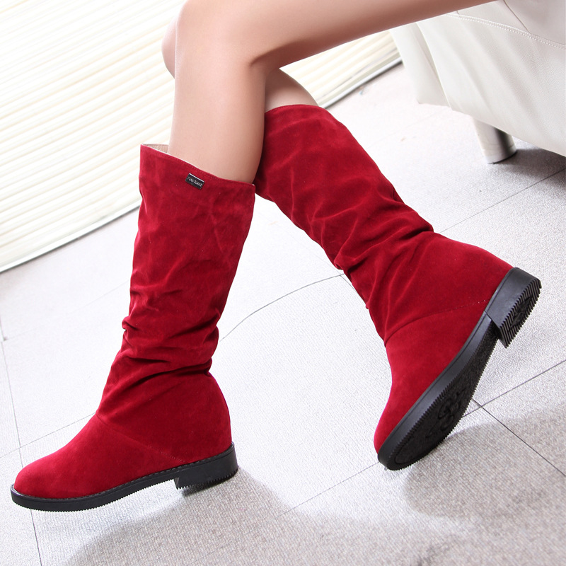2016 Autumn and Winter New Women Boots Fashion Trend Casual Non-slip Female Low To Help Boots with Add Wool Knight Women Boots<br><br>Aliexpress