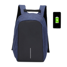 Smart Urban Anti Theft Backpack Best Anti-Theft Usb Charging Travel Backpack Hidden Zipper Waterproof Laptop Bag anti Thief E023(China)