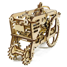 1Piece 3D-puzzle Mechanical Model TRACTOR Toy Wooden DIY Construction Kit Woodcraft Moving Model Gift