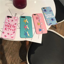 Lovely Dancing Doll Phone Cases for IPhone 7 7 Plus Colorful Kitty Back Cover for Iphone 6 6s Plus Soft IMD Case Coque