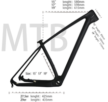 THRUST All Black or Customized Logo Thru Axle 142*12/135*9 Seatpost 27.2mm Free Shipping Carbon 29er MTB Bike Frame