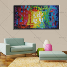 Large Hand Painted Abstract Canvas Oil Painting on Cnavas Contemporary Wall Art Modern picture Artwork Home Decor best gift(China)